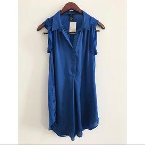 H&M • Blue Satin Top